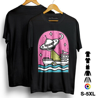 Robot Soldier Space T-Shirt Battle Giant Attack Abduction Alien Ufo They Co A565
