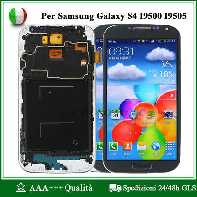 Display LCD Touch Screen Schermo Per Samsung Galaxy S4 i9505 i9500 + Frame