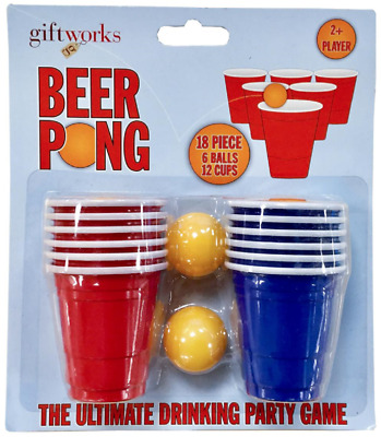 Rum Pong Adult Drinking Games can use for Beer Pong UK Stock Fast Delivery 12cup