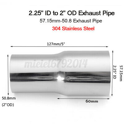 50.8mm OD to 31.75mm ID Stainless Standard Exhaust Reducer Connector Pipe Tube