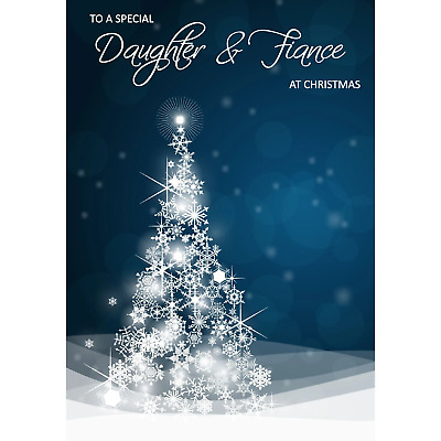 Doodlecards Fiance Christmas Card Medium Size