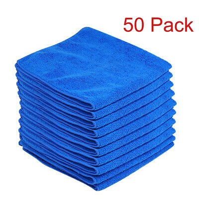 50 x LARGE MICROFIBRE CLEANING AUTO CAR DETAILING SOFT CLOTHS WASH TOWEL DUSTER