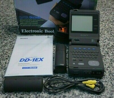 VTG Sony DD-1EX Data Discman Electronic Book Player Complete In Box Tested FR/SH