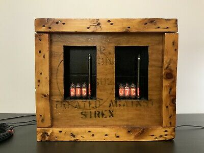 Nixie Tube Twin Thermometer [Rustic Vintage Industrial Bespoke Curiosity]