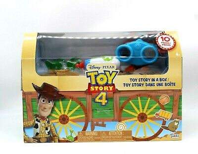 Toy Story 4 MOVIE In A Box Lenny Binoculars Pizza Planet Woody Badge Map 2019