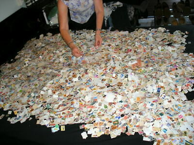1000000's Collection lot of 200++ randomly picked off paper Worldwide Stamps