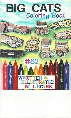 Big Cats Coloring Book Collectible #82 Artist L Royer Autographed New Realease