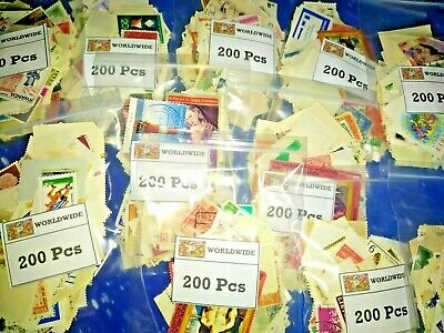 1000000's Collection lot of 200 pcs randomly picked off paper Worldwide Stamps