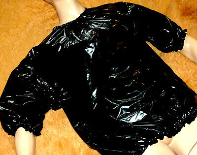 Hochglanz Lack T-Shirt Supersoft Pvc Weichfolie Rubberpant Diaper Adultbaby Sm
