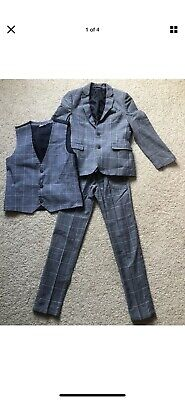 Boys Age 9-10 Suit Trousers Jacket Waistcoat. From Next. Nearly New