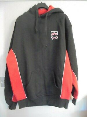 Boys black and red hoodie by Falcon 38/40""
