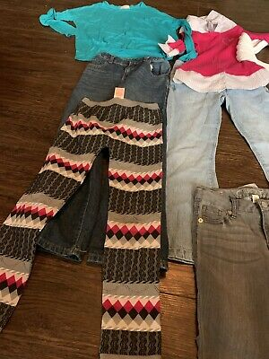 Girls Size 7/8 Fall Winter Clothing Lot 11 Pieces