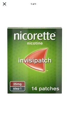 Nicorette InvisiPatch, Step 1, 25 mg, 14 Patches 1/2022
