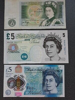 Old £5 Note Bank Of England Pound
