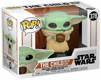 Funko Pop! Star Wars #378 The Mandalorian THE CHILD with cup