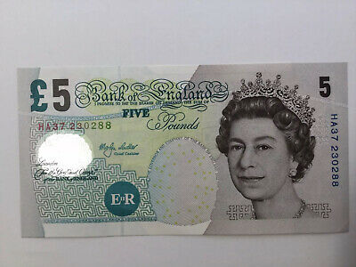 bank of england banknote, Five Pound Banknote, Merlyn Lowther, 1999/2003 Unc