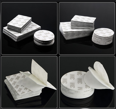 Double Sided Adhesive Foam Tape Sticky Pads 9080EVA Black/White Various Size