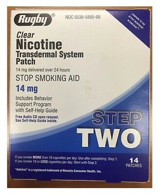 Rugby Nicotine Patches 14mg Step 2- 28 Total