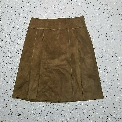 Women's Ann Taylor Leather Skirt ~ Size 8 ~ Straight ~ Below Knee ~ Lined