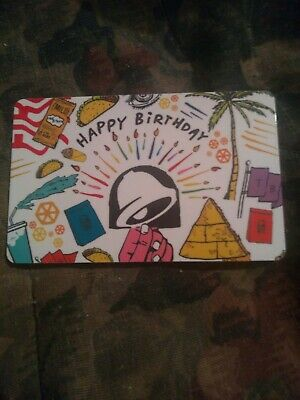 Taco Bell * Brand New Collectible Gift Card No Value * Birthday