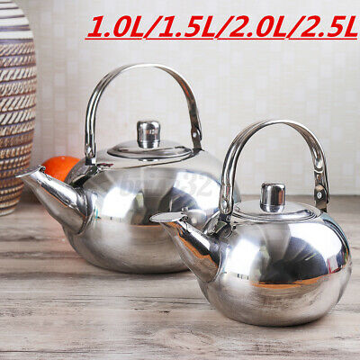 1L-2.5L Stainless Steel Tea Kettle Teapot Stove Top Fast Boil Water//Coffee
