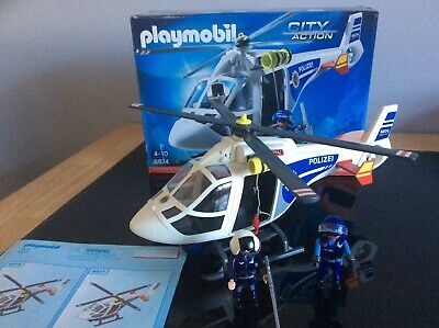 Playmobil Police Helicopter with LED Searchlight¦Baby//Kid/'s Interactive Playset