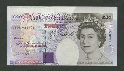 BANK OF ENGLAND Lowther £20 1994 B375  ERROR  Uncirculated Banknotes