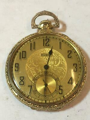 ART DECO ELGIN Vintage Pocket WATCH 15j 15 Jewels Running
