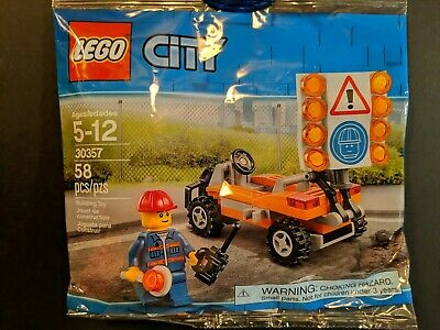 Lego 30357 CITY Road Worker Brand New Sealed