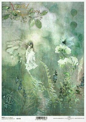 Rice Craft Paper Decoupage Scrapbook MDF Projects  A4 Forest Glade