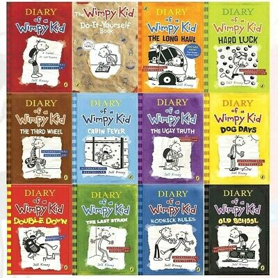 Diary of a Wimpy Kid 12 Book Set, Jeff Kinney | NEW-12 Individual Titles Set