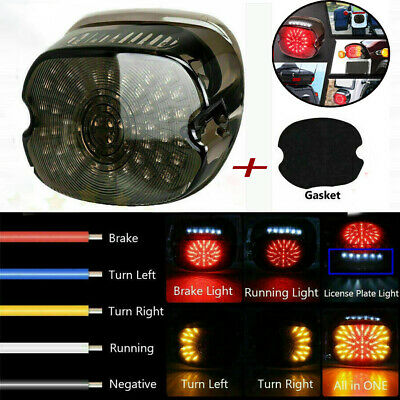 Turn Signal Harley Davidson 2006-17 Softail Sequential Tail Light LED Smoke Int