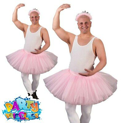 Mens Stag Night Fun Ballerina Fairy Costume Adult Party FunnyFancy Dress Outfit