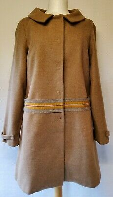 ZARA TRF CAMEL Wool Blend Jacket Coat Size M Medium 10 12