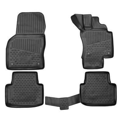 Gledring Tailored Rubber Floor Mats to fit Fiat 500X 15-19 Black Moulded Set