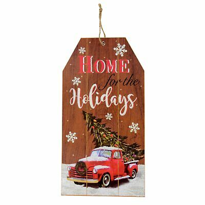 Farmhouse Red Truck Sign NEW Country Decor 4 Christmas.