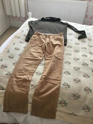 Boys Primark Slim Fit Jeans And Hooded Top Age 12-14