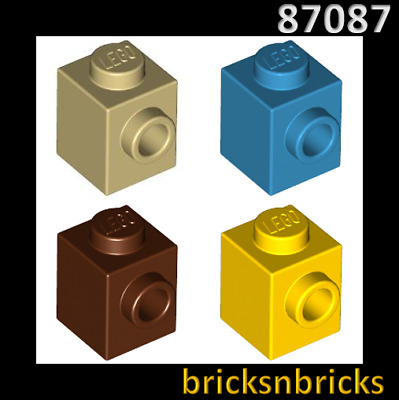 ⭐️20x LEGO White Brick 87087 Modified 1 x 1 with Stud on 1 Side NEW ⭐️