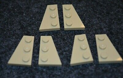 LEGO Lot of 8 Sand Blue 2x3x2//3 Wing End Bricks