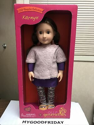 """Our Generation 18/"""" AVIA Exclusive Doll NIB//Sealed Brown Hair and Eyes"""