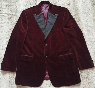 Austin Reed Mens Burgundy Velvet Evening Jacket Size 44 112cm Reg Superb 19 99 Picclick Uk