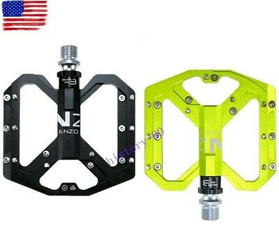 ENZO MTB XC Road Bike Steel Pedal 3 Bearing Flat-Platform Bicycle Pedals 1 pair