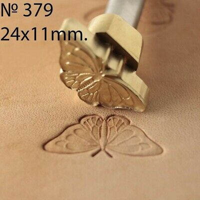 Butterfly Leather stamp tool crafting crafts brass flower stamps #378