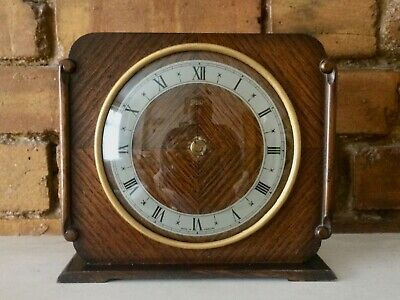 Vintage 1949-55 Smiths 8-Day Wooden Mantel Clock: Spares Or Repairs, No Movement