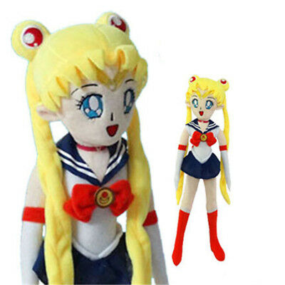 Anime Sailor Moon Luna Cat Plush Doll Purple Bow Toy Collection Gift 35CM