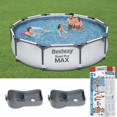 12in1 GARDEN SWIMMING POOL PUMP 305cm 10FT Round Frame Above Ground Pool SET