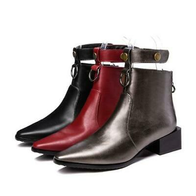 Details about  /European New Women/'s Sqaure Toes Zip High Heels Formal Ankle Boots Shoes Lucky