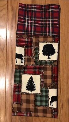 """std  size Homemade Flannel Sloth """"Nap All The Time"""" Pillowcase handmade"""