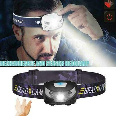 2XLED Head Torch Headlight USB Rechargeable Super Bright Headlamp Camping Fish