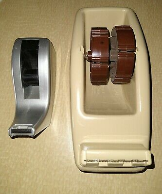 "Vintage Scotch 3M C-22 Weighted Heavy Duty Desk Table Tape Dispenser. 2"" Core"